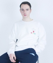 [CODEI'M] Bowl Napping Over Fit Crew Neck
