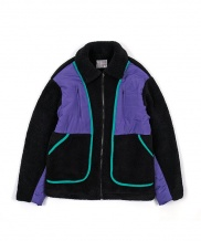 [youthbath] Over-size padding fleece zip-up jumper