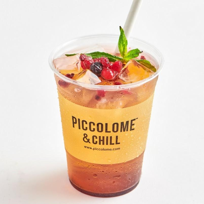 Lychee Ice Tea With Berries