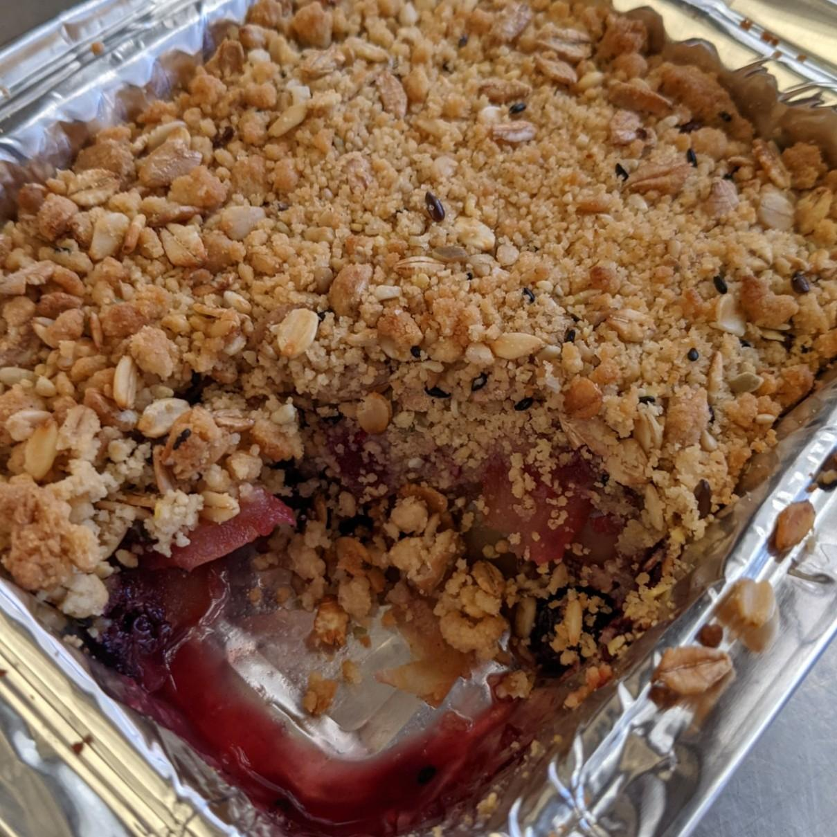 Apple and Berry Crumble (Gluten Free)