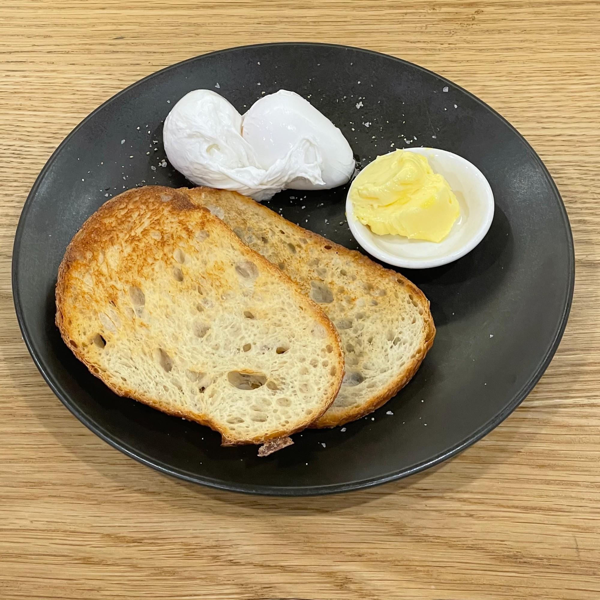 Free Range Poached Eggs on Toast