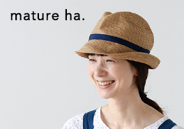 mature ha.BOXED HAT/帽子の画像