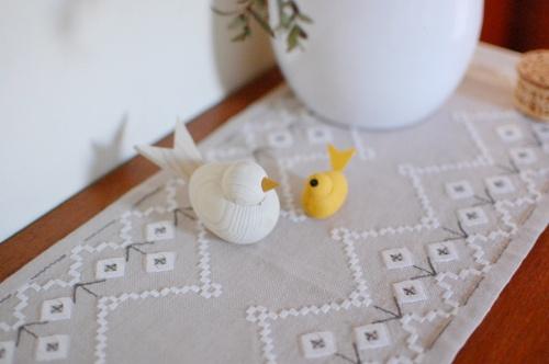 【スタッフの愛用品】セバスチャンデザイン/木製の水鳥のオブジェ(M)/ホワイト