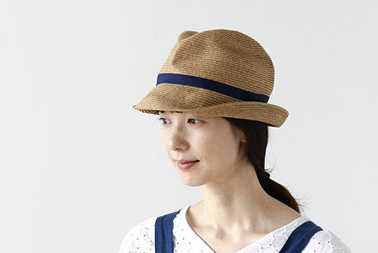 【今季終了】mature ha.BOXED HAT(つば幅7cm)ネイビーの商品写真