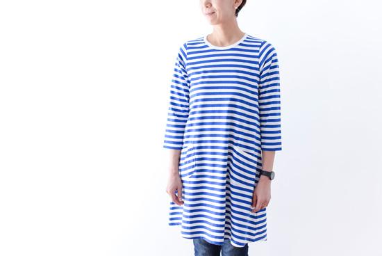 marimekko/マリメッコ/JARILLA/ボーダーワンピース(ブルー×ホワイト)の商品写真