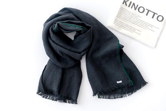 KINOTTO/キノット/ガーゼストール(チャコールグレー)の商品写真