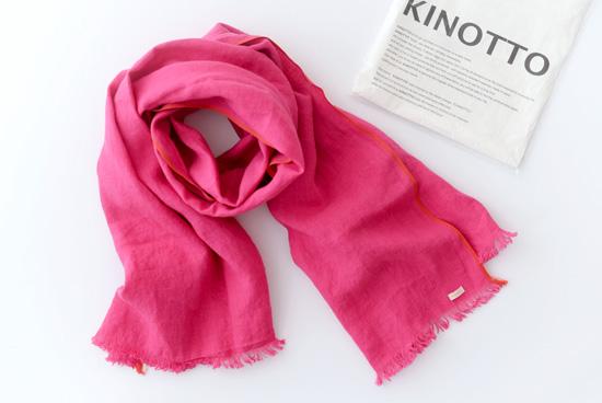 【次回2017年3月頃入荷予定】KINOTTO/キノット/ガーゼストール(ピンク)の商品写真