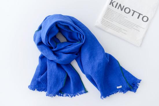 【次回2017年3月頃入荷予定】KINOTTO/キノット/ガーゼストール(ブルー)の商品写真