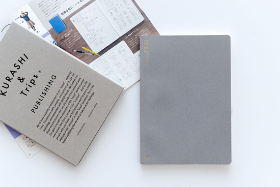 KURASHI&Trips PUBLISHING/オリジナルノート(グレー)ミニ冊子・使い方つきの商品写真