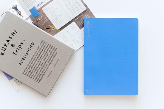 KURASHI&Trips PUBLISHING/オリジナルノート(ブルー)ミニ冊子・使い方つきの商品写真