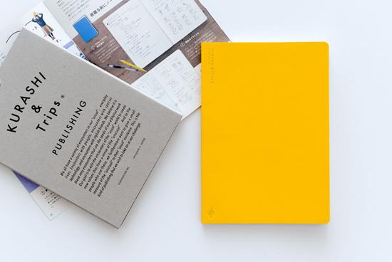 KURASHI&Trips PUBLISHING/オリジナルノート(イエロー)ミニ冊子・使い方つきの商品写真