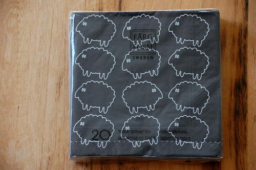 スウェーデン/Farg&Form/ペーパータオル/シープ(ブラック)の商品写真