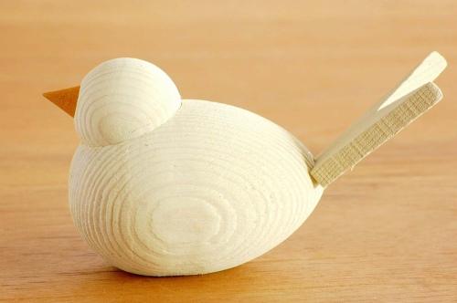 デンマーク/Sebastian design/セバスチャンデザイン/木製の水鳥のオブジェ(M)/ホワイトの商品写真