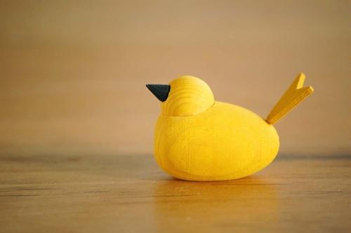 デンマーク/Sebastian design/セバスチャンデザイン/木製の水鳥のオブジェ(S)/イエローの商品写真