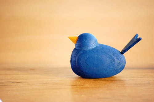 デンマーク/Sebastian design/セバスチャンデザイン/木製の水鳥のオブジェ(S)/コバルトの商品写真