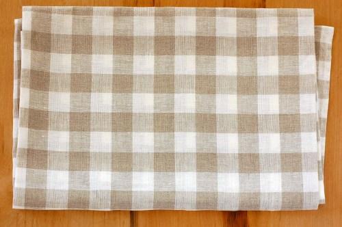 【取扱い終了】リトアニアのリネン/マリーチェック/バスタオル(Lサイズ)の商品写真