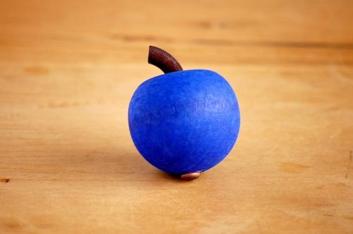 デンマーク/Sebastian design/セバスチャンデザイン/木製アップルオーナメント(S)/コバルトの商品写真