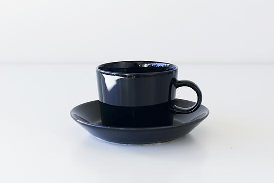 iittala/イッタラ/Teema/ティーマ/カップ&ソーサー/ブラックの商品写真