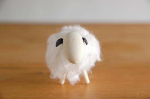 LARSSONS TRA/ラッセントレー/羊のオブジェ(ホワイト)の商品写真