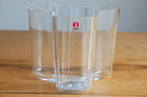iittala/イッタラ/Alvar Aalto/アルヴァ・アアルト/ 花瓶 120mm クリアの商品写真