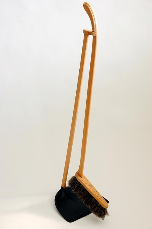 Iris(SRF) Hantverk/イリス・ハントバーク社/ちりとりブラシセット(ブラック)の商品写真