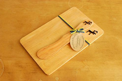 スウェーデン/SKANDINAVISK HEMSLOJD/バターナイフ&ボードセット(トナカイ)の商品写真
