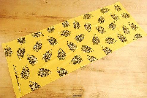 Lisa Larson/リサ・ラーソン/手ぬぐい/ハリネズミ(黄色)の商品写真