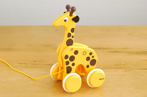 BRIO/ブリオ/おもちゃ/引き車/キリンの商品写真