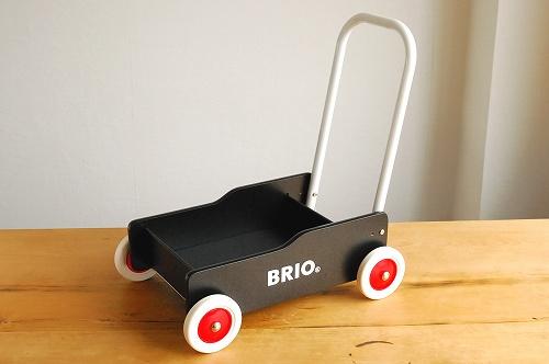 BRIO/ブリオ/おもちゃ/手押し車(黒)の商品写真