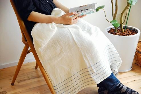 LAPUAN KANKURIT/ウォッシュド リネン/マルチユースタオル/KASTE/ブルーの商品写真