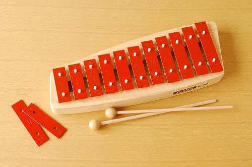ドイツ/ゾノア社/メタルフォン(鉄琴楽器)/赤の商品写真
