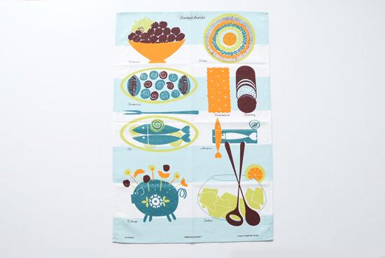 スウェーデン/Almedahls/アルメダールス/ビュッフェテーブル/キッチンタオルの商品写真