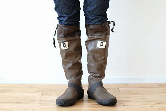 日本野鳥の会/長靴/ブラウン(Lサイズ)の商品写真