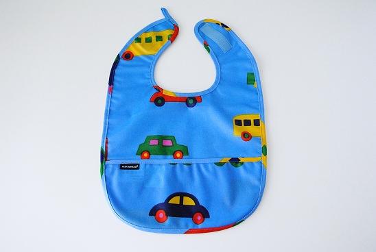 marimekko/マリメッコ/BO BOO/赤ちゃん用のお食事エプロン(ブルー)の商品写真