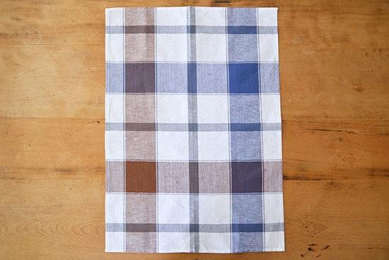 Kracht/キッチンクロス/ドレスデン/タータンチェック(ブルー×ブラウン)の商品写真