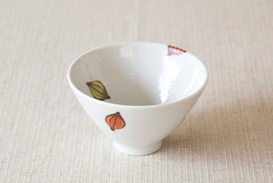 九谷焼/徳永遊心/色絵種子模様/飯碗(径:約11.5cm)の商品写真