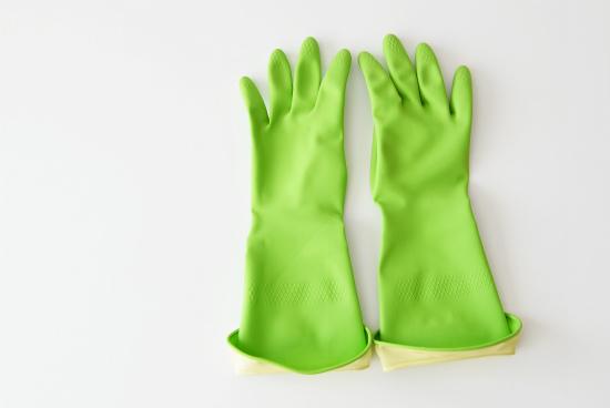 【在庫限り廃盤】Casabella/ウォーターストップグローブ/ゴム手袋(グリーン)/Sサイズの商品写真