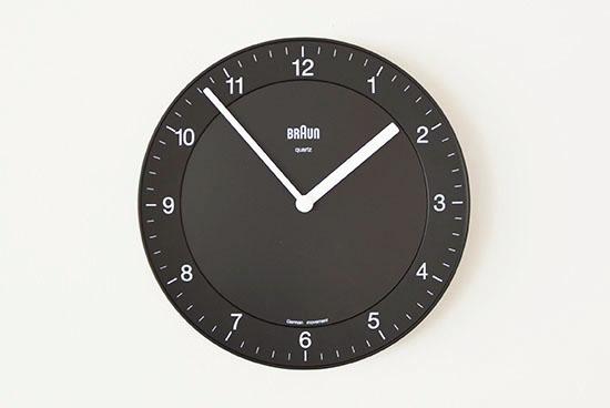 BRAUN/ブラウン/壁かけ時計(ブラック)の商品写真