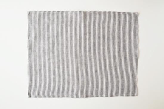 fog linen work/フォグリネンワーク/プレイスマット/ストライプ(グレー)の商品写真