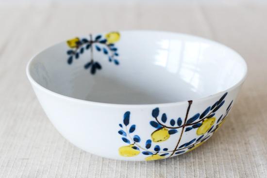 【まもなく取扱い終了】九谷焼/米満麻子/レモンの木/6.5寸鉢(径:約19.5cm)の商品写真