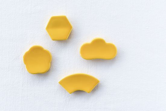 クラスカ/ドーの箸置き(黄)の商品写真