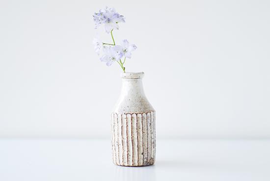 山田雅子/粉引/一輪挿し/ボトル型の商品写真