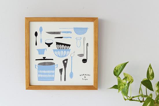 オリジナルポスター/シルクスクリーン/ジャム作りの道具の商品写真