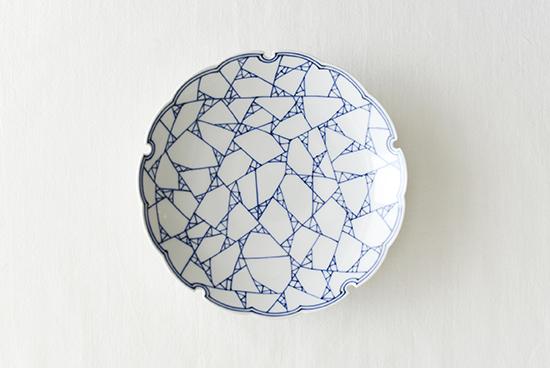 龍豊窯/氷裂紋/6寸皿の商品写真
