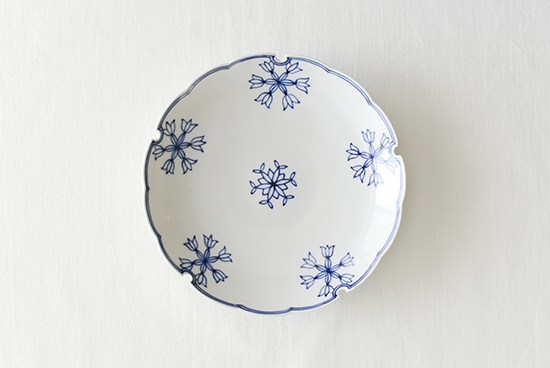 龍豊窯/雪輪皿/6寸皿の商品写真