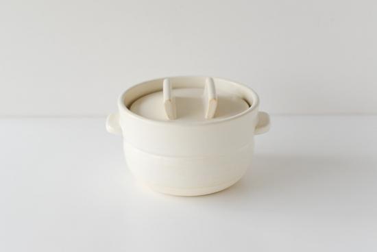 かもしか道具店/ごはんの鍋/一合炊き(白)の商品写真