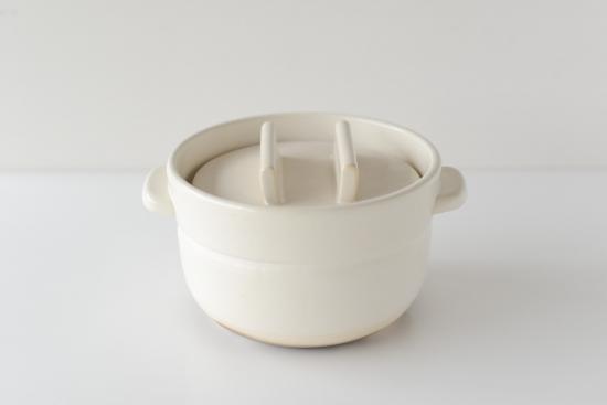 かもしか道具店/ごはんの鍋/二合炊き(白)の商品写真