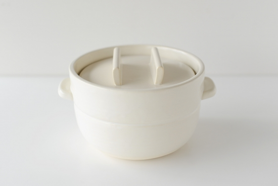 かもしか道具店/ごはんの鍋/三合炊き(白)の商品写真