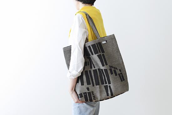 LAPUAN KANKURIT / トートバッグ / しまうま柄(ブラック×ナチュラル)の商品写真