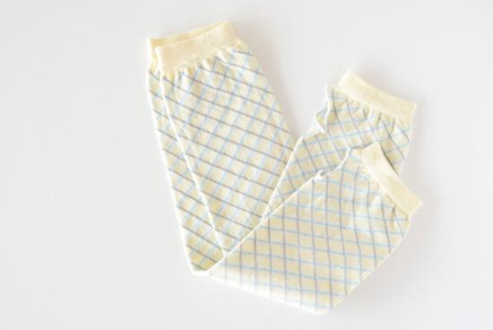 Danke/ダンケ/UVカットアームカバー(クリーム色・ブルー×グレーのチェック柄)の商品写真
